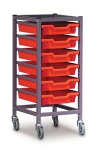 Single Trolley with Trays