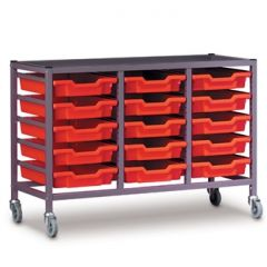 Treble Trolley with Trays 725mm high