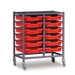 Double Trolley with Trays (850mm high)
