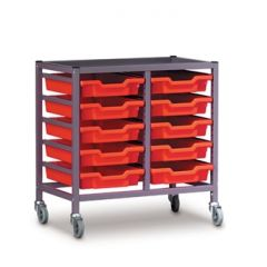 Double Trolley with Trays (725mm high)