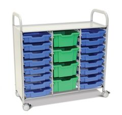 Callero Plus Treble Trolley with Shallow and Deep Trays