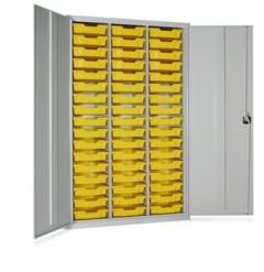 Lockable Metal Cupboard With Trays