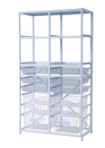 Double Frame with Trays and Baskets