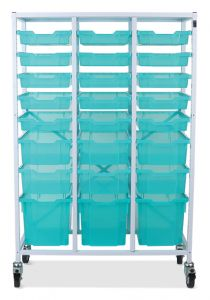 Antimicrobial Mobile Storage Frame with Mixed Trays