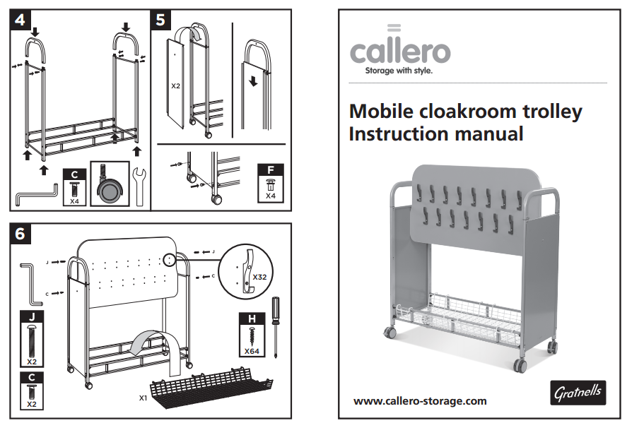 Mobile cloakroom trolley Instruction manual