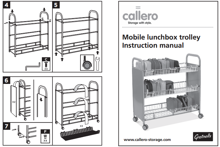 Mobile lunchbox trolley Instruction manual